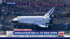 Space Shuttle Endeavour rolls into new home as crowds cheer - CNN.com
