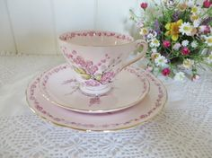 Tuscan vintage 1940's Tea trio called April by MaddyVintageHostess