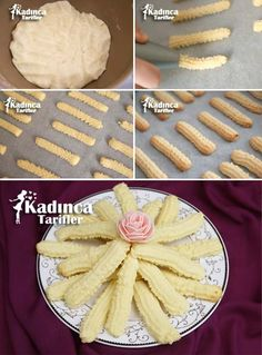 Caterpillar Cookie Recipe, How To … – Womanly Recipes - Türkische Küche Ideen Biscuits, Sweet Cookies, Turkish Recipes, Homemade Beauty Products, Cannoli, Cookie Recipes, Bakery, Food And Drink, Pie