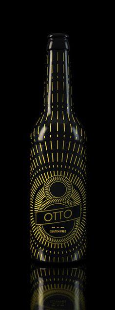 Otto Beer. Bottle Packaging, Packaging Ideas, Packaging Design, Bottle Art, Beer Bottle, Whiskey Bottle, Beer Logos, Beer Factory, I Like Beer