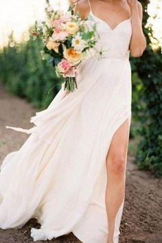 Simple spaghetti strap wedding dress   Spaghetti strap wedding dress ...