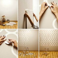 Decore on the wall on pinterest wallpapers stencils - Alternatives to painting walls ...
