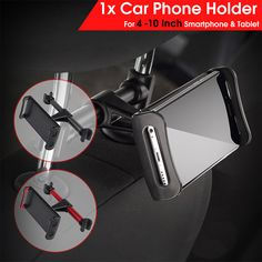 Universal 360 Degree Rotation Adjustable Headrest Phone Holder Car Seat Stand for iPhone Xiaomi iPad