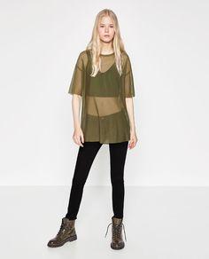 Image 1 of BASIC TULLE T-SHIRT from Zara