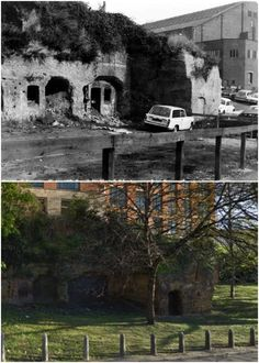 Cave dwellings, Hollowstone ~ 1973 and 2016