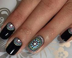 Point black full color nails