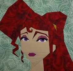 Megara, a free paper pieced pattern designed by Michelle Thompson. fandominstitches.com
