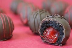Cherry cake balls