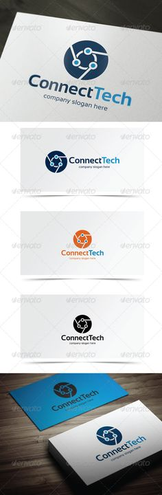 Connect Tech — Vector EPS #construction #abstract • Available here → https://graphicriver.net/item/connect-tech/6021443?ref=pxcr