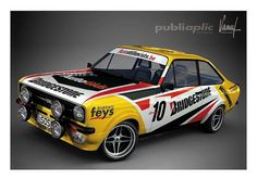 Ford Escort Mk ll Ford Rs, Car Ford, Ford Motorsport, Amazing Cars, Awesome, Classic Race Cars, Car Museum, Ford Escort, Rally Car