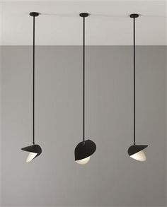 """Grosse Moule"" ceiling lights, Manufactured by Atelier Serge Mouille, France, Designed by Serge Mouille, c.1955"