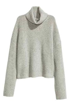 Wool polo-neck jumper
