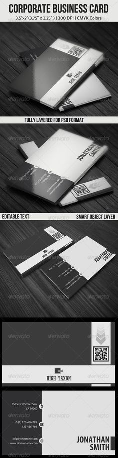 Corporate Business Card — Photoshop PSD #artist business card #design business cards • Available here → https://graphicriver.net/item/corporate-business-card/4467332?ref=pxcr