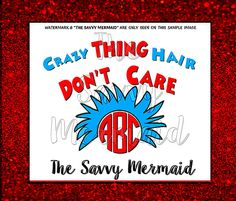 This purchase is for an Instant Download of a design Inspired by Dr. Seuss, Cat in the Hat, Thing 1 & 2 - combined with a Monogram Frame. Seuss