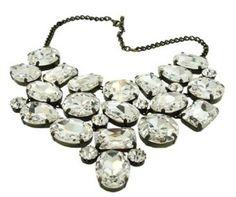 Swarovski Crystal NECKLACES | Ornate large Swarovski crystal necklace will make any outfit