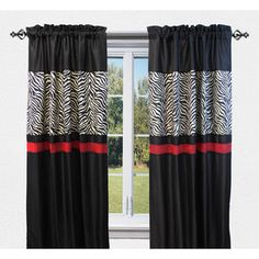 Shop for Sherry Kline True Safari Black Curtain Panel Pair - 56 x Get free delivery On EVERYTHING* Overstock - Your Online Home Decor Outlet Store!