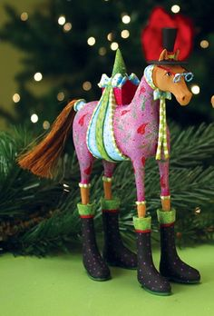 Patience Brewster Marcel Horse Christmas Ornament