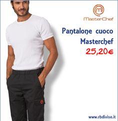 Pantalone cuoco MASTERCHEF solo a 25,20€. Acquistalo ORA su www.rbdivise.it!