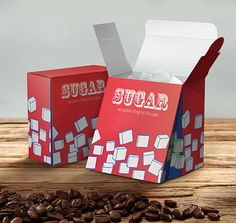 Cube Sugar   Red Dot Design Award for Design Concepts/Cube SugarSugar cubes are usually packaged compactly so that they are easy to transport. However, it can be difficult to take them out of the box when the opening is small and the cubes are too tightly packed together – this new packaging design will solve these problems