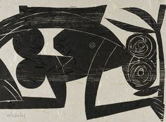 HAP Grieshaber - Affen und Alphabete. 1962.