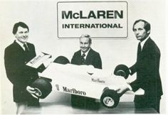 McLaren International. John Barnard,Teddy Meyer, Ron Dennis.