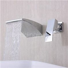 Image result for robinet mural lavabo chute