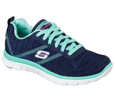 Sporty cool looks and go-anywhere comfort combine in the SKECHERS Flex Appeal - Pretty City shoe. Soft heathered jersey knit fabric upper in a lace up athletic sporty training sneaker with stitching accents and Memory Foam insole. Sketchers Shoes, Nursing Shoes, Best Running Shoes, Workout Shoes, Loafers For Women, Shoes Women, Comfy Shoes, Training Shoes, On Shoes
