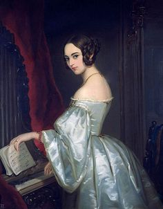 Portrait of Princess Maria Ivanovna Kochubey - Artist Unknown. ca. 1840.