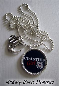 I need a necklace!! I want this minus the coastie girl... Too much