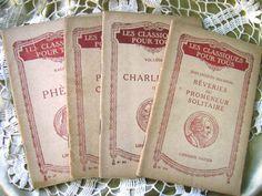 Quartet of petite  vintage French Books Les by ArtandBookShop, $8.00