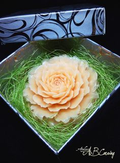 #Soap #carving #chrysanthemum, hand carved soap, #decorative soap, #vanilla scent soap, #floral #aroma soaps, #bridal shower, #guest #gifts #idea by #AtelierABCarving on #Etsy