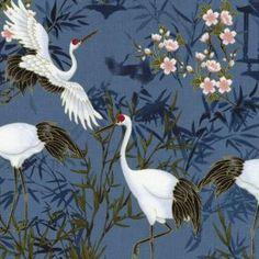 Kabuki Cranes - Timeless Treasures Stoffe