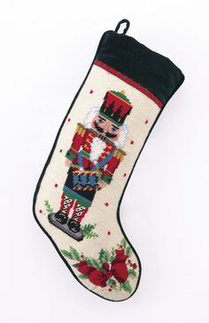 Nutcracker Soldier Drum Needlepoint Stocking Christmas – For the Love Of Dogs - Shopping for a Cause