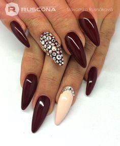 All RUSCONA - www.ruscona.sk #nails #nailporn #nailswag #nailpromote #nailart #nailpolish # nailworld #nailstyle #nailshop #gelnails #nailslove # swarovskinails #marsala #marsalanails #bodynails #longnails