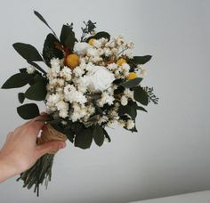 Field Harvest Bridal Bouquet | Flores del Sol on Etsy
