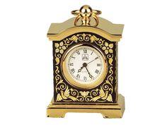 Reloj mini damasquinado en oro, TORRE - Toledo Gold