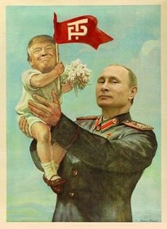 Putin with his new plaything code named Agent Orange.