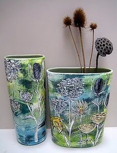 The beautiful ceramics below are the work of Lisa Katzenstein