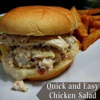 quick and easy chicken salad sandwich farm rich
