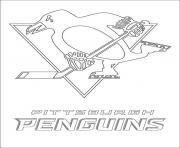 Pittsburgh Penguins Logo Nhl Hockey Sport Coloring Coloriage