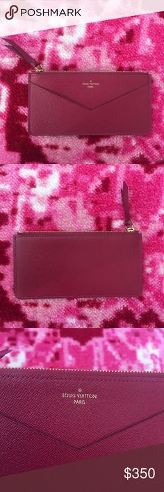 💕New Louis Vuitton card holder coin pouch fuschia Brand new, 100% authentic,  its originally from jeanne wallet. Great insert, zipper bag with card pocket !   See the last picture to get a better idea about the size ( iPhone 6S) 💕💕I also have Chanel Reissue,classic double flap bag, Chloe Drew/Faye bags, Bulgari serpenti forever, moschino biker, Louis Vuitton speedy ,papillion for sale in my closet. Check my closet, Bundle for discount!💕💕 Louis Vuitton Bags Mini Bags