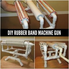 Playing with rubber bands will never be the same when you make a rubber band machine gun that can easily outmatch any rubber band gun that only fires once.