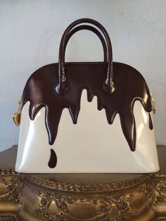 1990s Franco Moschino Chocolate Drip Iconic by The Fine Art of Design Vintage in Palm Desert, $1090.00 www.thefineartofdesign.com