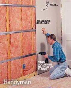 How to Soundproof a Room - Step by Step: The Family Handyman Love soundproofing, follow: soundproofcurtain.com