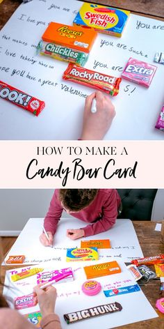 How to Make a Candy Bar Card! | If you're looking for a fun Valentine's Day gift idea, you'll love these fun candy bar cards! Pick up a few of your favorite candies and write a fun note to a friend or loved one this Valentine's Day! It's a gift they'll love and one you were able to personalize just for them! || JennyCookies.com #candybarcard #valentinegifts #valentineideas #jennycookies