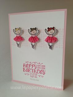 Happy Birthday Cutie!  So Very Happy and Sweet Stuff stamp sets by Stampin' Up! #lepapierpalette