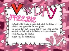 History of Valentine's Day nonfiction Minibook and activities  FREEBIE