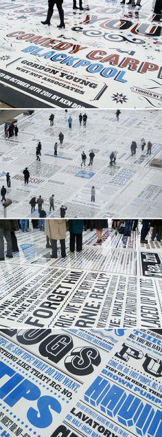 Tipografía | Typography - comedy carpet