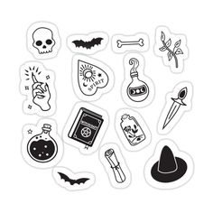 Tumblr Stickers, Cool Stickers, Printable Stickers, Laptop Stickers, Kalender Design, Black And White Stickers, Black White, Tattoo Hals, Halloween Stickers