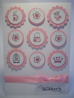 SU Every Little Bit Cricut or Punches: scallop circle, 1 and circle; Accessories: pretty in pink satin ribbon, white gel pen, blender pen, stampin dimensionals. Scrapbook Cards, Scrapbooking, Origami, Candy Cards, Fathers Day Cards, Card Sketches, Kids Cards, Cool Cards, Creative Cards